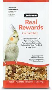 Zupreem Real Rewards ORCHARD Mix Medium Bird Parrot Food & Treats Fruits Nuts