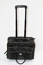 Samsonite Black Wheeled Rolling Computer faux leather Business Case