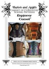 Steampunk Corset Sewing Pattern Victorian, Wedding, Gothic, Pirate Pattern M