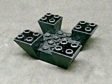 Lego Slope Inverted 65° 6x6x2 Quadruple with Cutouts [30373] - Black x1