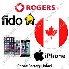 FIDO ROGERS CANADA iPhone 4s 5 5s 6 6s 6+ 6s+ 7 7+ 6 Plus 7 Plus UNLOCK CODE