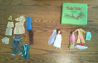 Vintage Triki Miki Doll Wardrobe & Case Plus Little Miss Dollkin Doll Plus Cloth