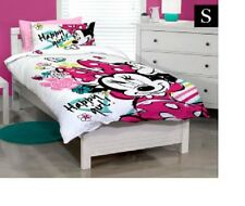 SINGLE BED GIRLS DISNEY MINNIE MOUSE HAPPY GIRL QUILT DOONA COVER & PILLOWCASE!
