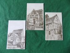 Postcard Wiltshire: Bradford on Avon Saxon church X3 sepia Wilkinson