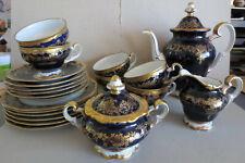 Kaffee-/Teeservice, 6 Personen, Katharina, 20003, Echt Kobalt, Weimar Porzellan,