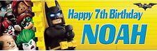 2 x personalised lego batman birthday banner children party nursery decoration