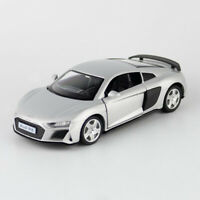 1:36 2019 Audi R8 Coupe Model Car Diecast Toy Vehicle Pull Back Silver Kids Gift