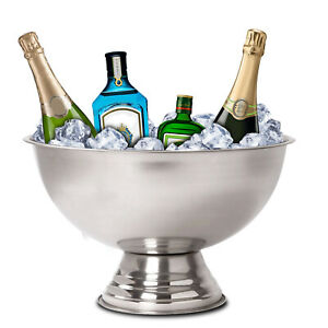 Punch Bowl Large Stainless Steel Party Drink Champagne Wine Beer Cool Ice Bucket