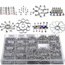 85Pcs Wholesale Lots Mixed Lip Piercing Body Jewelry Barbell Rings Tongue Ring W