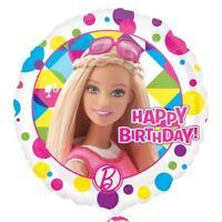"Barbie Sparkle Happy Birthday Standard Foil Balloon 17"" - Girls Party Supplies"