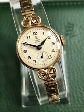 Beautiful Vintage ROLEX Tudor 'Royal' 9ct Solid Gold Ladies Watch Working!