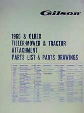 Gilson Wards Garden Tiller Mower Tractor Attachment 1966-older Parts Manual 32pg