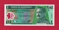 GUATEMALA UNC POLYMER Banknote: One 1 Quetzal 2012 (P-115c) PRINTER: FCOF France