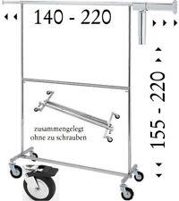 zwei Etagen Kleiderständer Rollständer klappbar große Rollen  2 Ebenen NEU  56.2