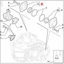Genuine New Alfa Romeo 147 GTA / Fiat  Inner CV Boot Driveshaft Flange & Seal