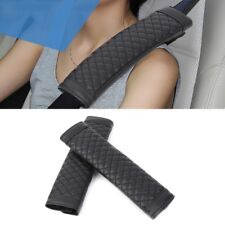 2 Pcs Universal PU Leather Car Seat Belt Cover Cushion Shoulder Pads