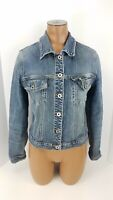 Silver Jeans Jean Jacket Womens Size Small S Vintage Wash Denim Button Front Top