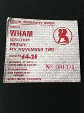 ❣RARE❣1 OF THE EARLIEST WHAM TICKET•Club Fantastic '83~Wham! (George Michael)