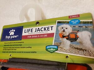 Top Paw Lifejacket for Dogs 5-15 lbs  Orange   XSmall