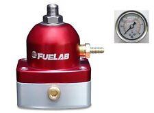 Regulador De Presión Combustible EFI Fuelab MINI (Rojo) y calibrador de presión #54501-2