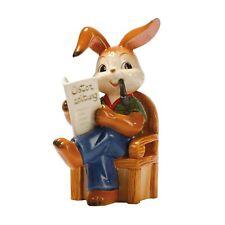 """Goebel """"Onkel ist der Lustigste"""" 12 cm Hasenfamilie Hase mit Zeitung 66874611"""