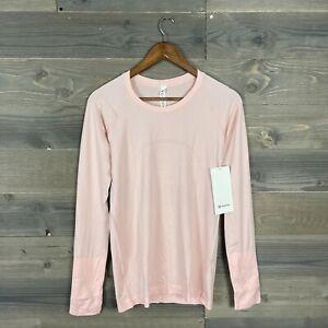 NWT Lululemon Womens Light Pink Swiftly Breathe Long Sleeve Shirt Sz 8