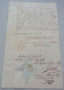 Bürgerschein Socket (KT St.Gallen) 1808 For Johannes Bernegger From Sax