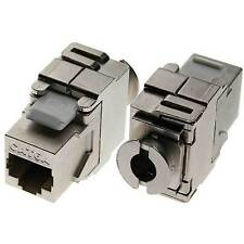 CAT6A Gigabit Tool-free Keystone Mounting for Patchpanel 100/1000 Mbit Ethernet