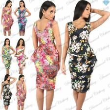 Floral Dresses for Women with Peplum