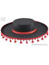 Spanierhut schwarzgold schwarzrot Fasching Flamenco Hut