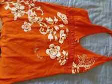 canotta prendisole arancione BERSHKA- taglia L