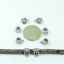 60 Enganches 11x6mm T13 Plata Tibetana Clasps Conector Necklace Beads Bail