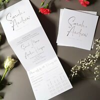Personalised Wedding Invitations With Envelopes - Trifold Wedding Invites - SALE