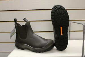 Grisport Chelsea Waxy Brown Leather Steel Toe Cap Chukka Safety Boots UK 9 EU 43