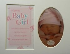 """""""Baby Girl """"Keepsake photo mount to fit 8"""" x 10"""" Bedroom Living Room Home Office"""