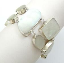 Natural Mother of Pearl Shell Argent Sterling 925 Bracelet Femmes Bijoux SG078