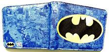 Batman Billetera Cartera 4 ranuras para tarjetas de crédito con cremallera bolsillo interior azul
