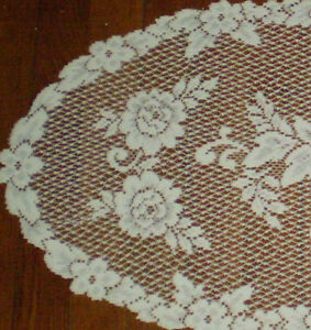 """Heritage Lace Victorian Rose 13""""x 36"""" Runner 100% Polyester, oblong"""
