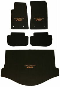LLOYD MATS Ultimat 5PC FLOOR MAT SET 2011 to 2015 ORANGE Camaro RS *CONVERTIBLE*