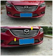 10PCS Chrome Front Grill Grille Cover Trim For 2014 Mazda 6 ATENZA