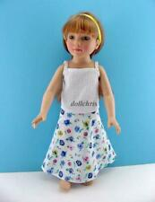 "Doll Clothes Pansy Skirt Top Just Pretend Outfit for 18"" Magic Attic Club Lot 2"
