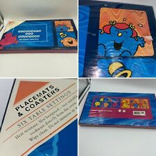 🌈New Vintage 2000 Mr Men Little Miss Set Of 6 Placemats & Coasters Boxed