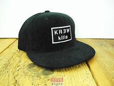 KREW DENIM - KILLS CORD SNAPBACK CAP NEU BLACK KREW CLOTHING