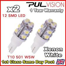 2x 501 Sin Tapa 12v Luz Interior Led Bulbo Xenon Blanco