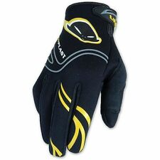 GUANTO UFO IN NEOPRENE NERO E GIALLO TAGLIA S CROSS ENDURO MOTARD QUAD