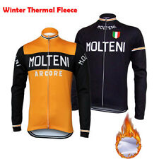 MOLTENI Cycling Jersey Winter Fleece Retro Long Sleeve Road Pro MTB Bike Shirt