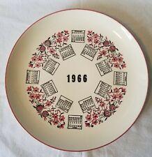 1966 Porcelain Calendar 10-Inch Collector Plate