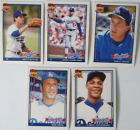 1991 Topps Traded Los Angeles Dodgers Team Set of 5 Baseball Cards