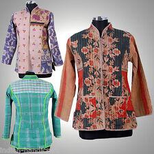 10 Vintage kantha Short Jacket Reversible Gudri Rally Coat Sherwani JK5