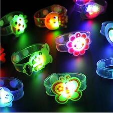 2pcs Kids Gift Bracelet Wrist Watch Supplies Flash Light Led Adjustable Toy